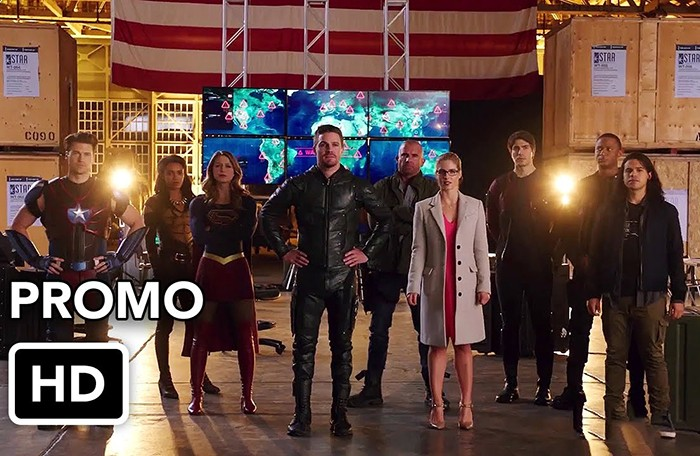 The Flash, Supergirl, Arrow e Legends of Tomorrow em novo pôster do crossover